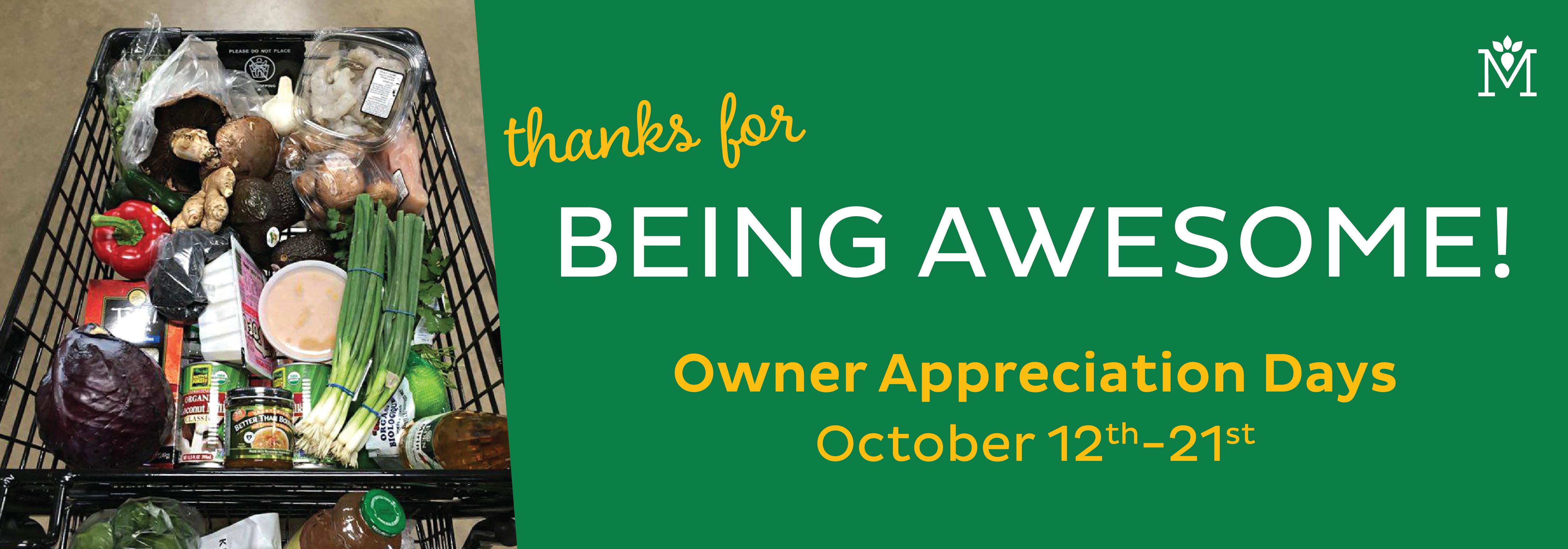 Owner Appreciation Days 2018-01