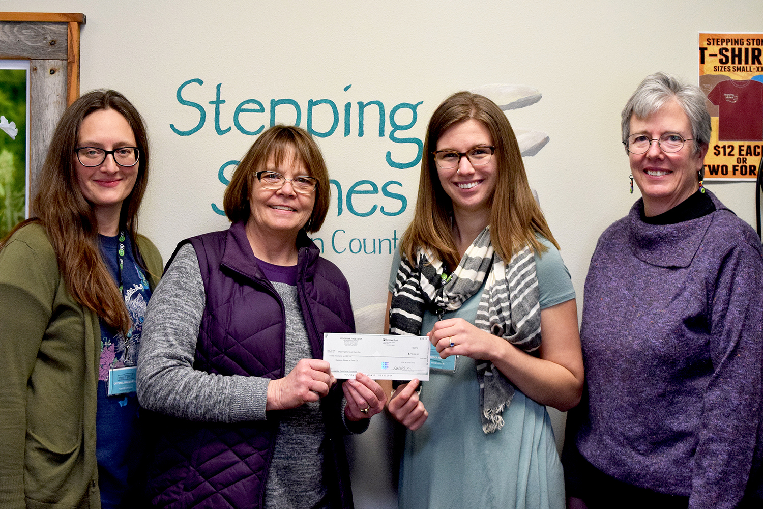 Donations to Stepping Stones Menomonie Wisconsin